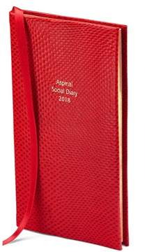 Aspinal of London Social Diary In Berry Lizard