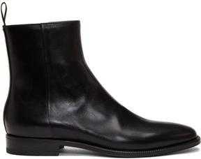 Jil Sander Black Zip Boots