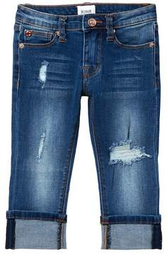 Hudson Skinny Rolled Cuff Cropped Jeans (Little Girls)