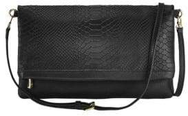 GiGi New York Carly Exotic Leather Convertible Clutch