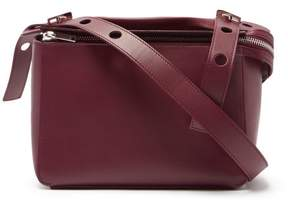 Sophie Hulme Bolt Calf Leather Shoulder Bag - Womens - Burgundy