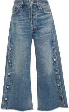 Citizens of Humanity Emma High-Rise Wide-Leg Cropped Jeans