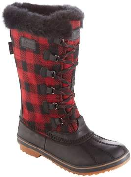 L.L. Bean L.L.Bean Women's Waterproof Rangeley Pac Boots, Tall Plaid Insulated