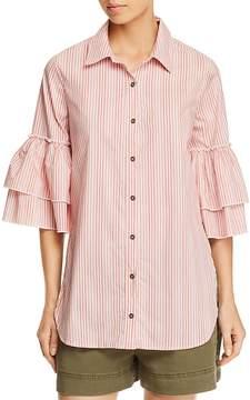Ella Moss Striped Tiered-Sleeve Shirt