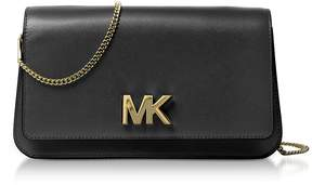 Michael Kors Mott Large Black Leather Clutch - BLACK - STYLE