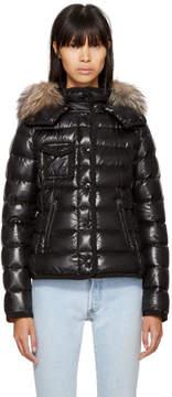 Moncler Black Down Fur Armoise Jacket
