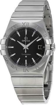 Omega Constellation 09 Quartz Black Dial Men's Watch