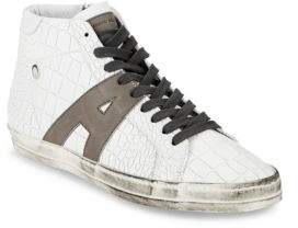 Alessandro Dell'Acqua Textured Leather High-Top Sneakers