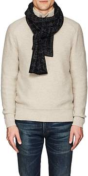 Barneys New York Men's Abstract-Pattern Cashmere Scarf