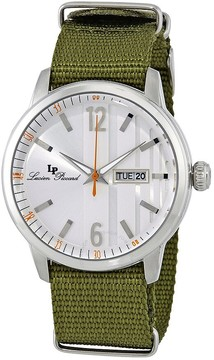 Lucien Piccard Milanese Men's Green Textile Watch