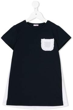 Il Gufo chest pocket T-shirt dress