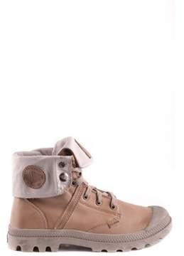 Palladium Women's Beige Leather Ankle Boots.