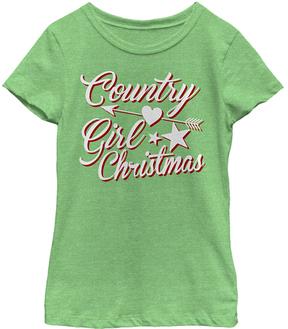 Fifth Sun Green Apple 'Country Girl Christmas' Tee - Girls