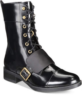 Kensie Carilynn Lace-Up Combat Boots Women's Shoes