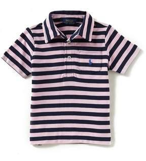 Ralph Lauren Little Boys 2T-7 Short-Sleeve Striped Mesh Polo Shirt