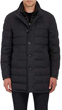 Moncler Men's Wool Down-Quilted Coat