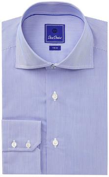 David Donahue Micro Stripe Trim Fit Dress Shirt