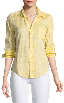 Frank And Eileen Barry Button-Front Faded Linen Shirt