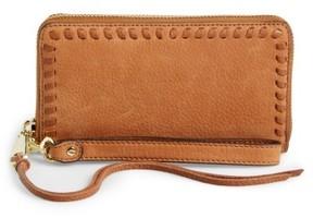 Rebecca Minkoff Women's Vanity Nubuck Leather Phone Wallet - Brown - BROWN - STYLE