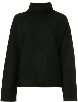 08sircus fleece funnel-neck sweater