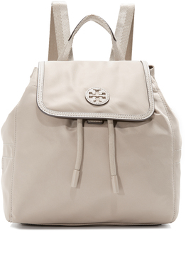 Tory Burch Scout Nylon Small Backpack - FRENCH GRAY - STYLE