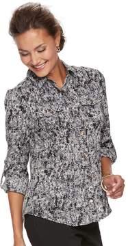 Dana Buchman Women's Nailhead Camp Shirt
