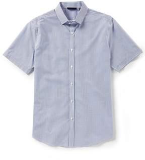 Murano Slim-Fit Mini Check Performance Short-Sleeve Woven Shirt