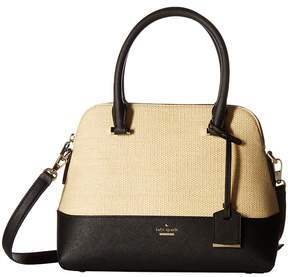 Kate Spade Cameron Street Straw Maise Handbags - NATURAL/BLACK - STYLE