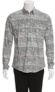 Balenciaga Abstract Print Button-Up Shirt