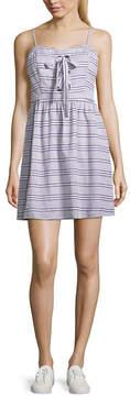 Arizona Sleeveless Stripe A-Line Dress-Juniors