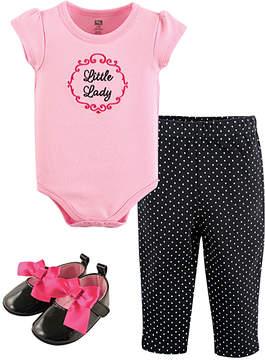 Hudson Baby Pink 'Little Lady' Bodysuit & Pants Set - Infant