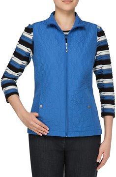 Allison Daley Zip Front Quilted Vest