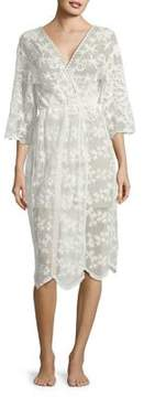 Flora Nikrooz Floral-Embroidered Robe