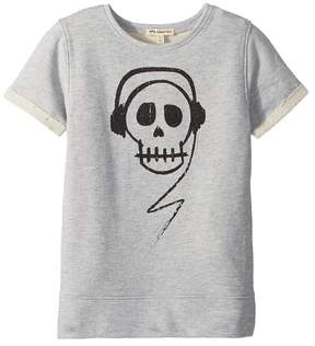 Appaman Kids Skull with Headphones Short Sleeve Sweatshirt Boy's Sweatshirt