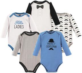 Hudson Baby Blue 'Perfect Gentleman' Bodysuit Set - Newborn & Infant
