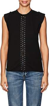 Blank NYC Blanknyc Women's Lace-Up Jersey Top