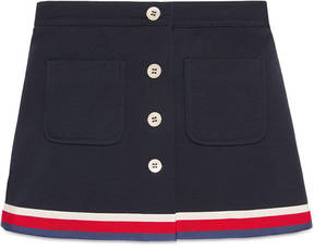 Gucci Children's jersey skirt with Sylvie Web