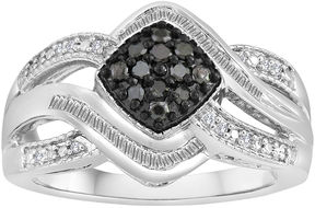 Black Diamond FINE JEWELRY 1/3 CT. T.W. White & Color-Enhanced Sterling Silver Ring