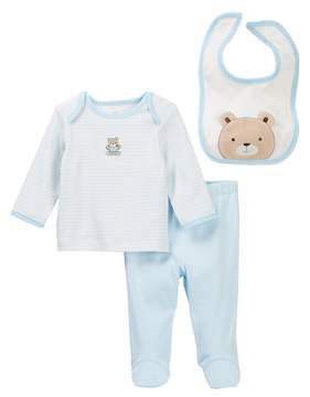 Little Me Chevron Teddy Lap Shoulder Set (Baby Boys)