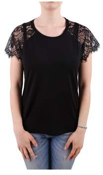 Sun 68 Women's Black Cotton T-shirt.