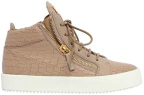 Giuseppe Zanotti Design 20mm Embossed Leather Mid Top Sneakers