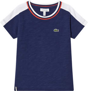 Lacoste Navy and White T-Shirt