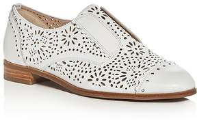Via Spiga Eliza Perforated Slip On Cap Toe Oxfords