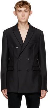 Calvin Klein Black Wool Double-Breasted Blazer