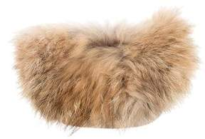 Glamourpuss Fur-Trimmed Leather Pouch