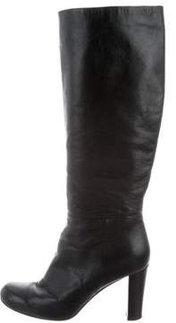 Max Mara Leather Knee-High Boots