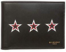 Givenchy Three Star Bi-Fold Leather Wallet