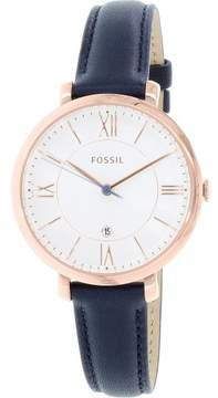 Fossil Women's ES3843 Jacqueline Leather Watch, 36mm
