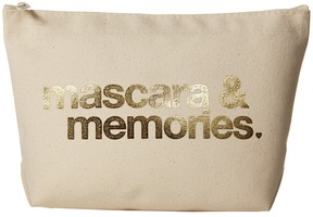 Dogeared - Mascara Memories Gold Foil Lil Zip Cosmetic Case