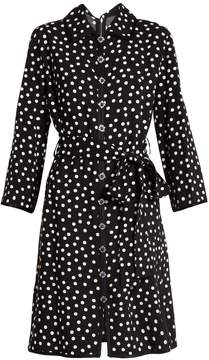 Dolce & Gabbana Polka dot-print crepe dress